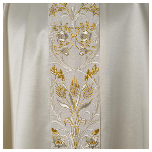 Casula ricamata a macchina lana seta lurex fiori 12