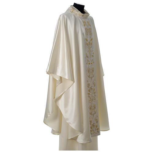 Casula ricamata a macchina lana seta lurex fiori 14