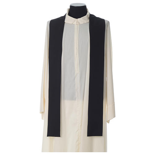 Chasuble in polyester Chi-Rho bread and fish, black 6