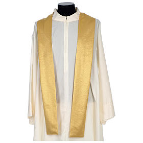 Chasuble 80% wool 20% lurex wheat lantern and thin cross satin s7