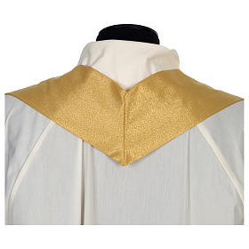 Chasuble 80% wool 20% lurex wheat lantern and thin cross satin s8