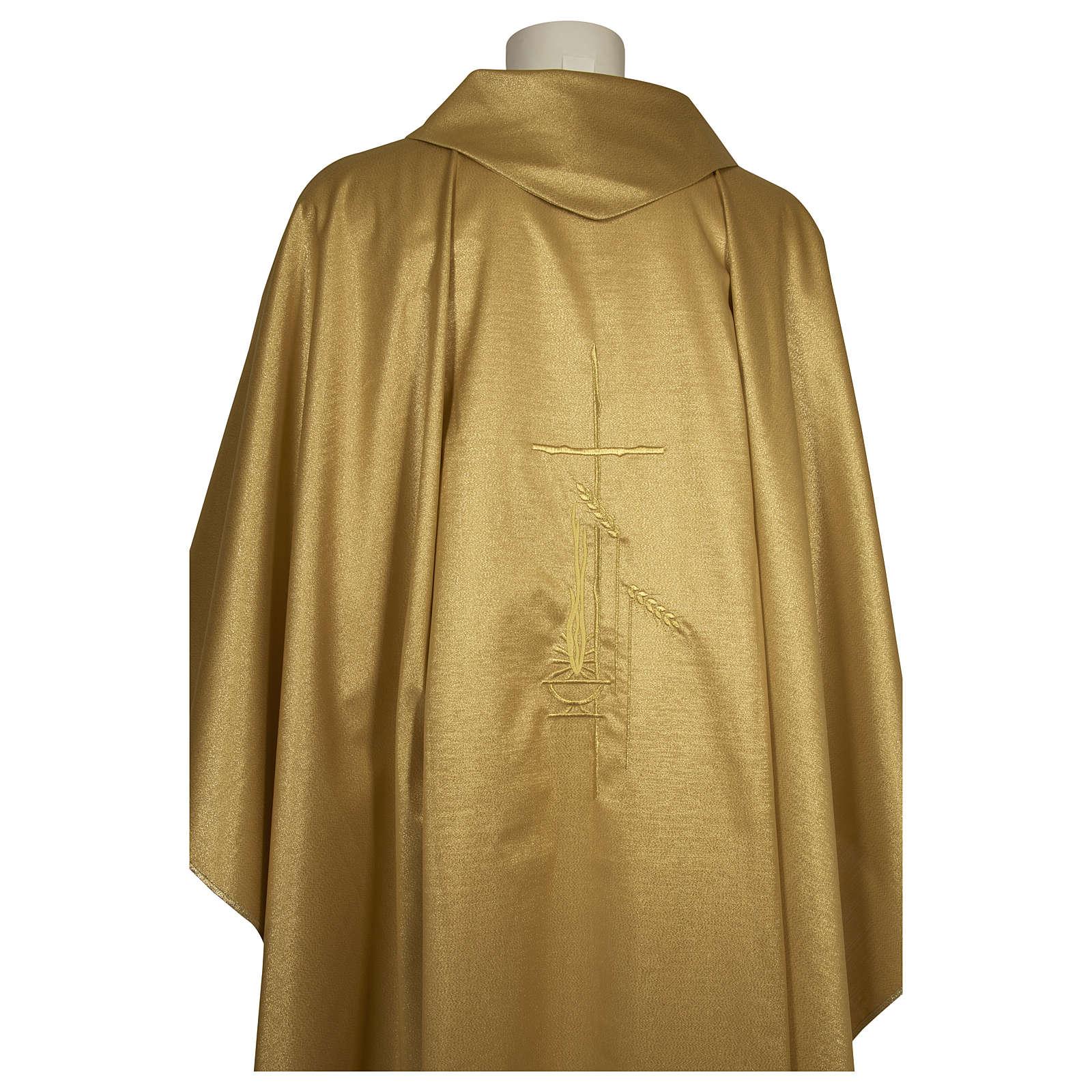 Casula raso 80% lana 20% lurex disegno croce sottile spighe lanterna 4