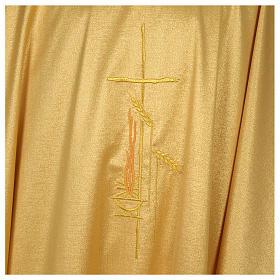 Casula raso 80% lana 20% lurex disegno croce sottile spighe lanterna s4