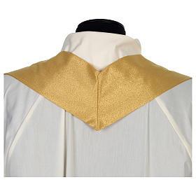 Casula raso 80% lana 20% lurex disegno croce sottile spighe lanterna s8