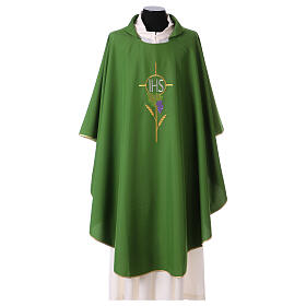 Chasuble with flower decorations, 100% polyester s3