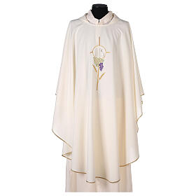Chasuble with flower decorations, 100% polyester s5