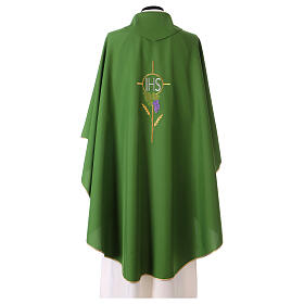 Chasuble with flower decorations, 100% polyester s7