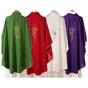 Chasuble with flower decorations, 100% polyester s8