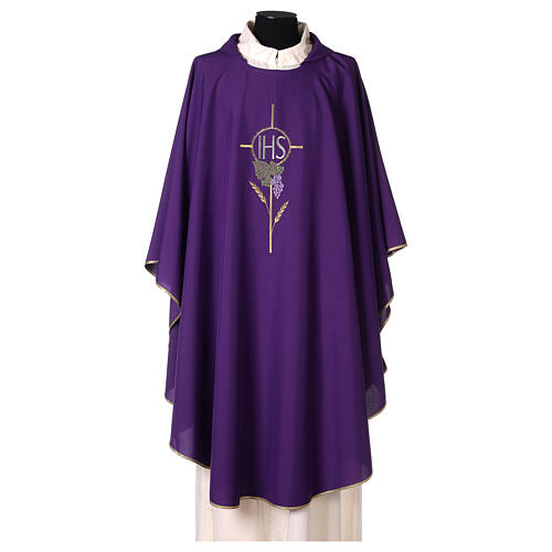 Chasuble with flower decorations, 100% polyester 6