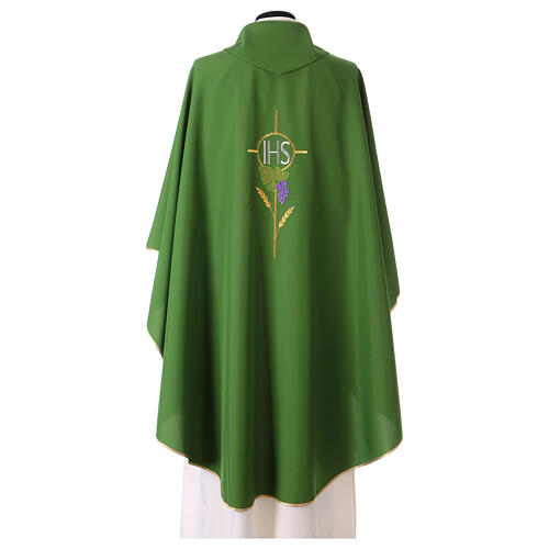 Chasuble with flower decorations, 100% polyester 7