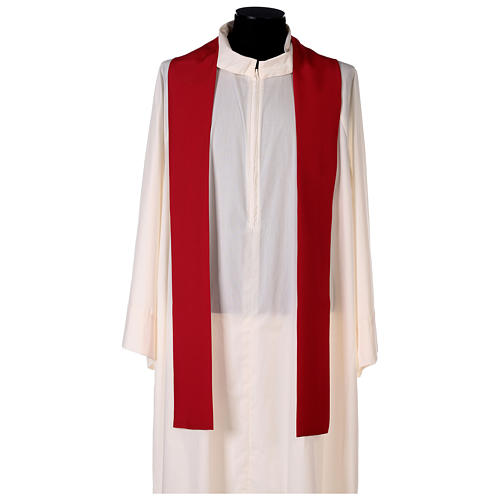 Chasuble 100% polyester décorations florales 5
