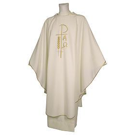 Casula sacerdotale 100% poliestere croce spighe alfa s3