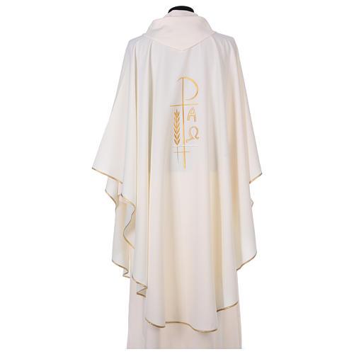 Casula sacerdotale 100% poliestere croce spighe alfa 3