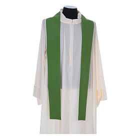 Chasuble in polyester cross wheat and grapes s9