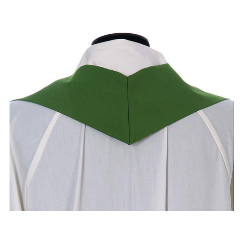 Chasuble in polyester cross wheat and grapes 13