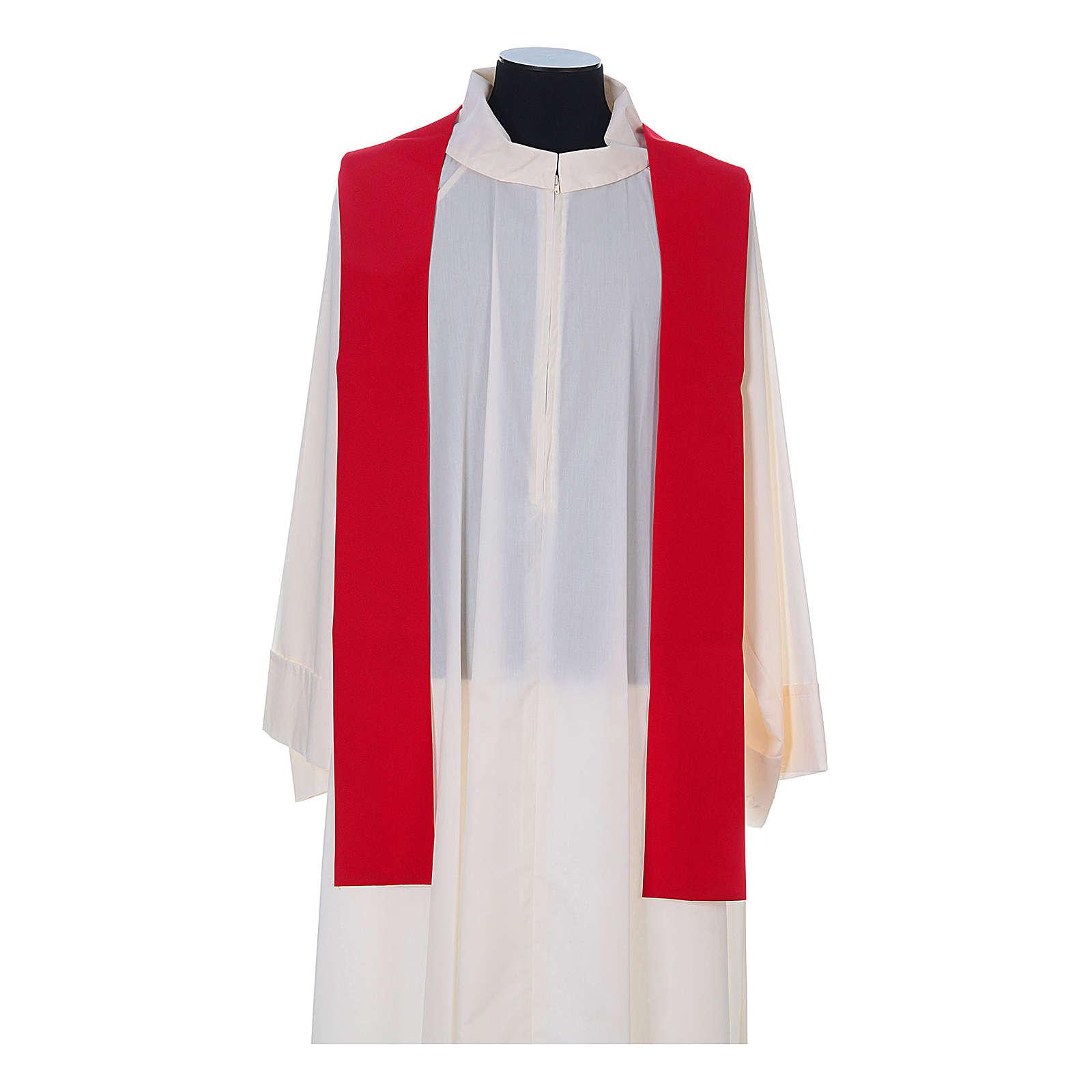 Casulla sacerdotal 100% poliéster con espigas cruz uva 4