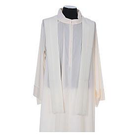 Casulla sacerdotal 100% poliéster con espigas cruz uva s11