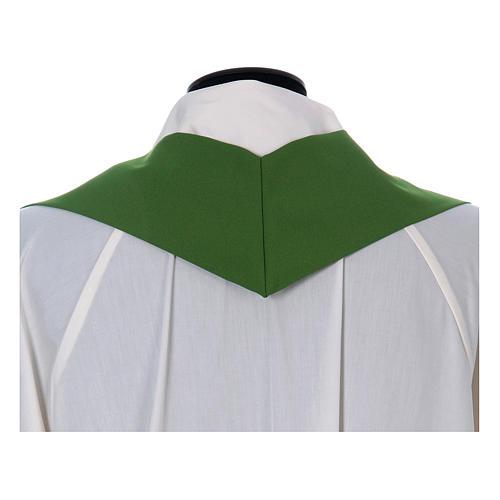 Casulla sacerdotal 100% poliéster con espigas cruz uva 13