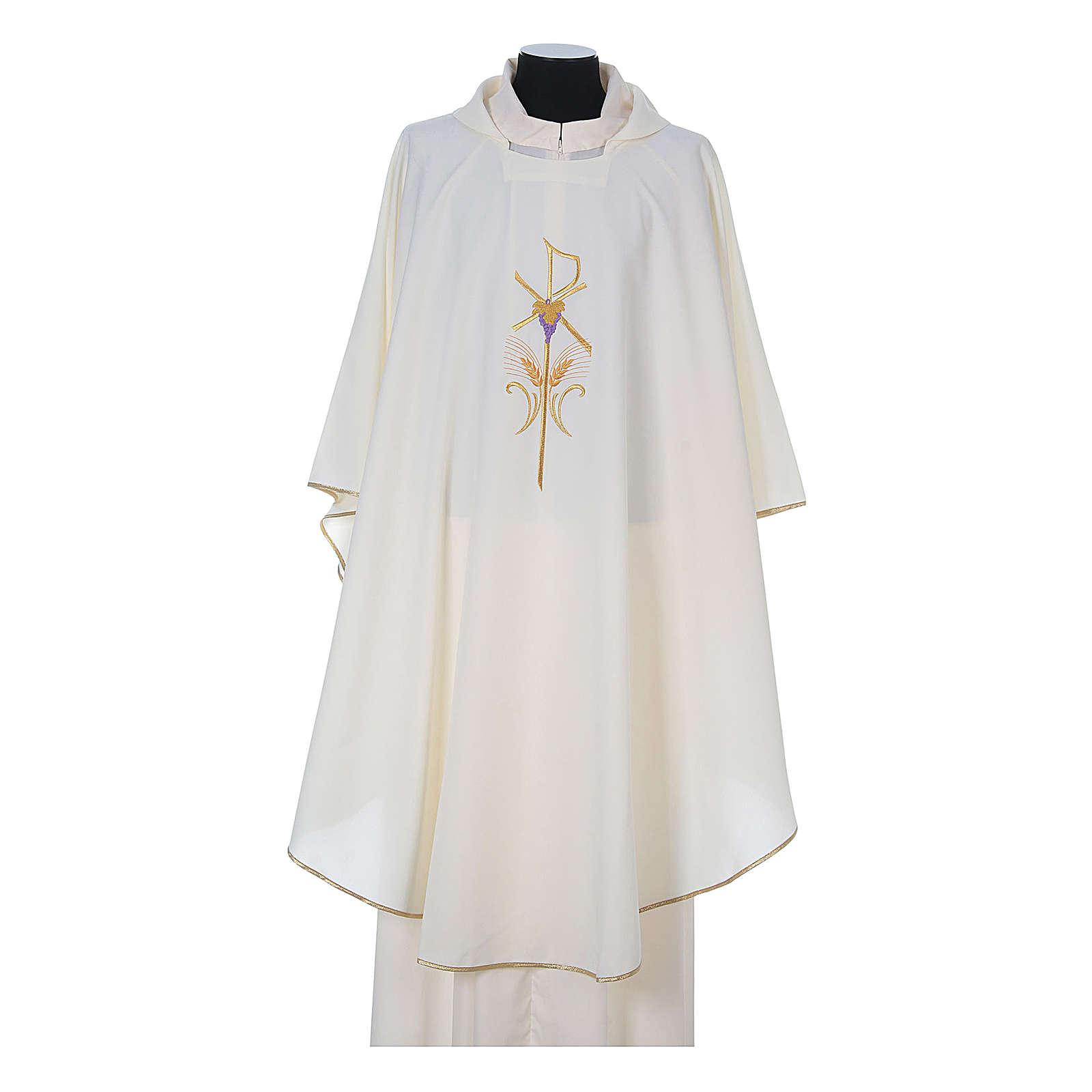 Ornat kapłański 100% poliester kłosy krzyż winogron 4