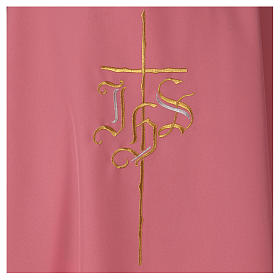 Rose IHS Chasuble with Cross in polyester s2