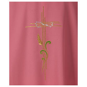 Chasuble in polyester IHS and wheat s2