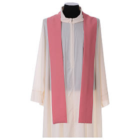 Chasuble in polyester IHS and wheat s5