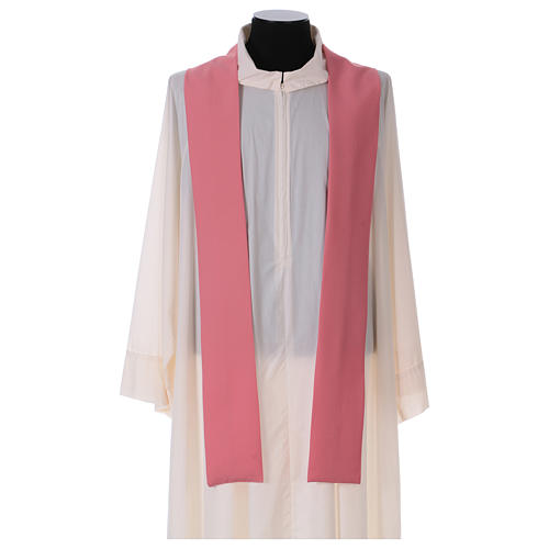 Chasuble in polyester IHS and wheat 5