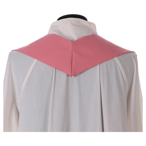 Chasuble in polyester IHS and wheat 6