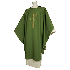Chasuble 93% wool 3% viscose 4% polyester Chi-Rho s1