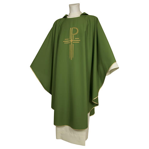 Chasuble 93% wool 3% viscose 4% polyester Chi-Rho 1