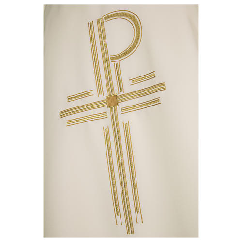 Chasuble 93% wool 3% viscose 4% polyester Chi-Rho 6