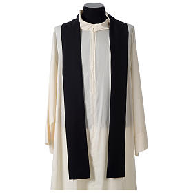 Chasuble in polyester cross wheat crown of thorns embroidery, black s5