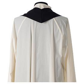 Casulla 100% poliéster bordado cruz espiga corona espinas negro s6