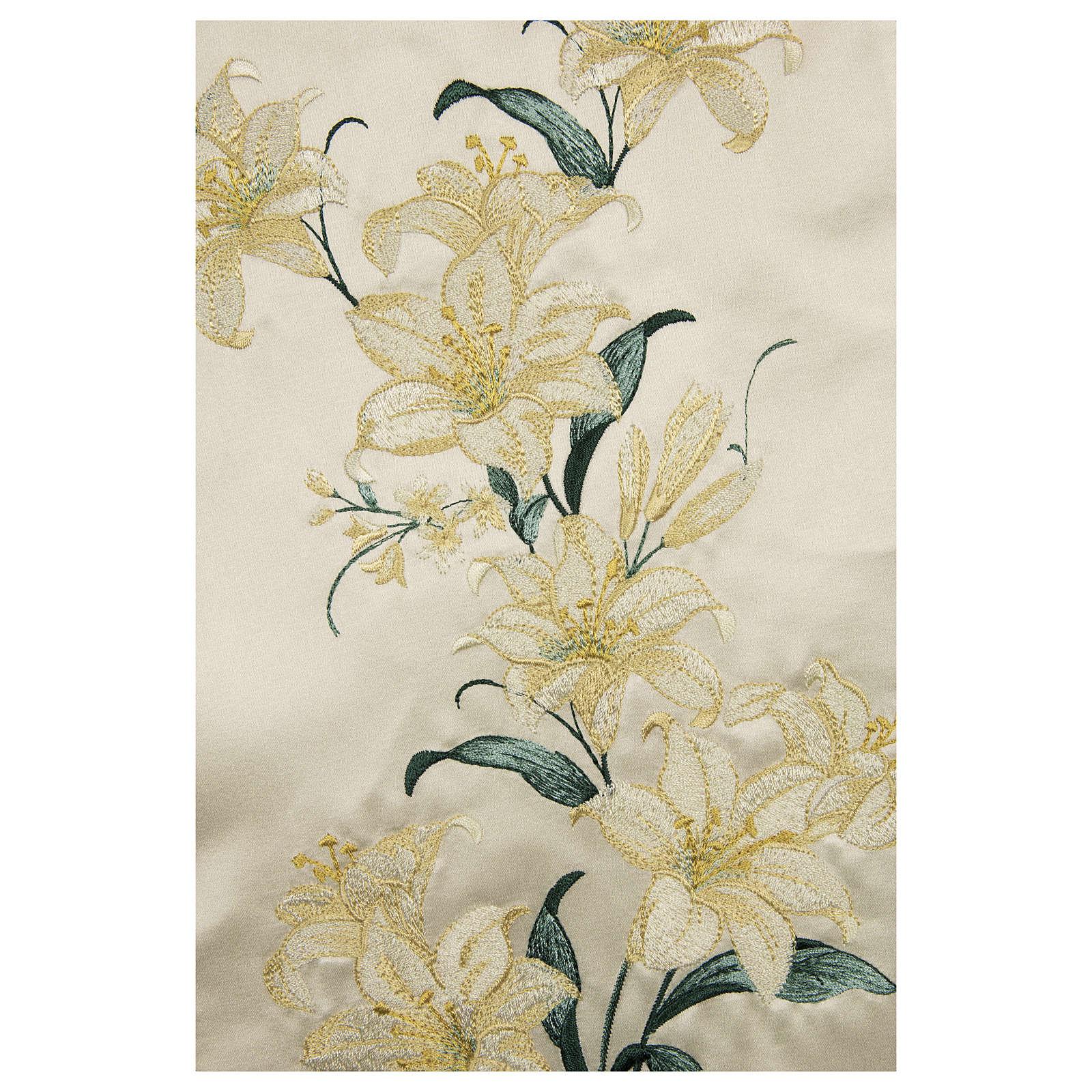 Casula sacerdotale 100% pura lana naturale fiori madonna 4