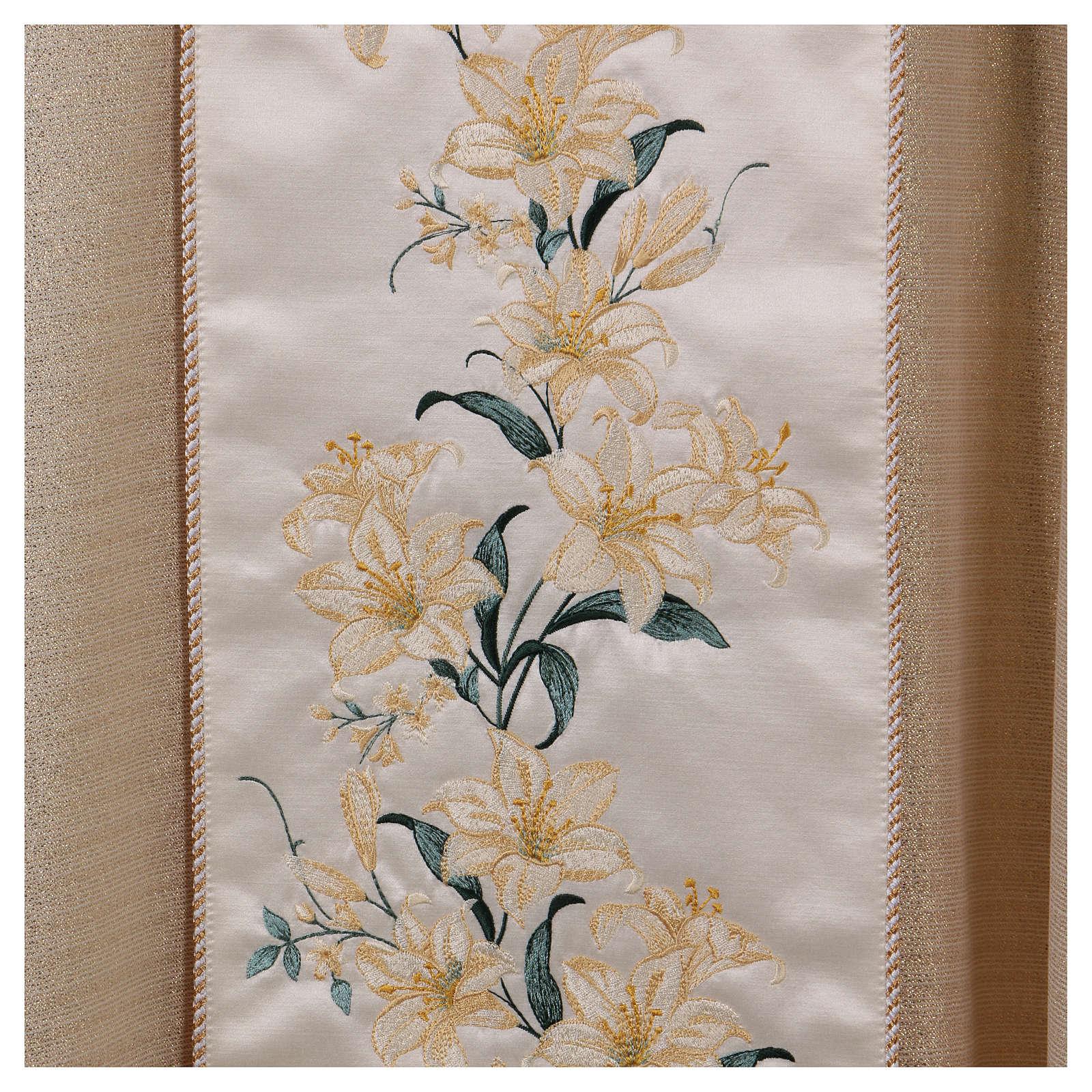 Casula mariana fiori 93% lana 4% poliestere 3% viscosa effetto oro 4