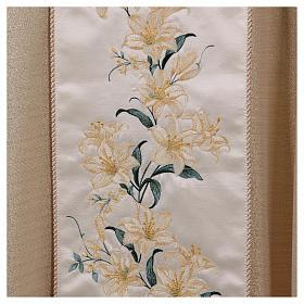 Casula mariana fiori 93% lana 4% poliestere 3% viscosa effetto oro s3