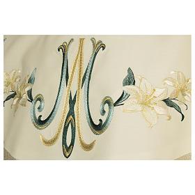 Casula Mariana con decori floreali lana viscosa effetto dorato s2