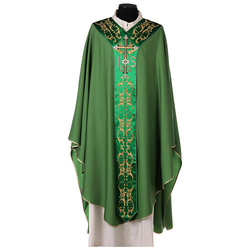 Chasuble 100% wool with cross 1