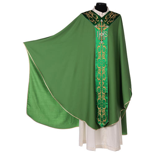 Chasuble 100% wool with cross 2