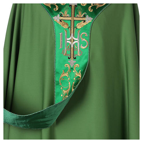 Chasuble 100% wool with cross 5