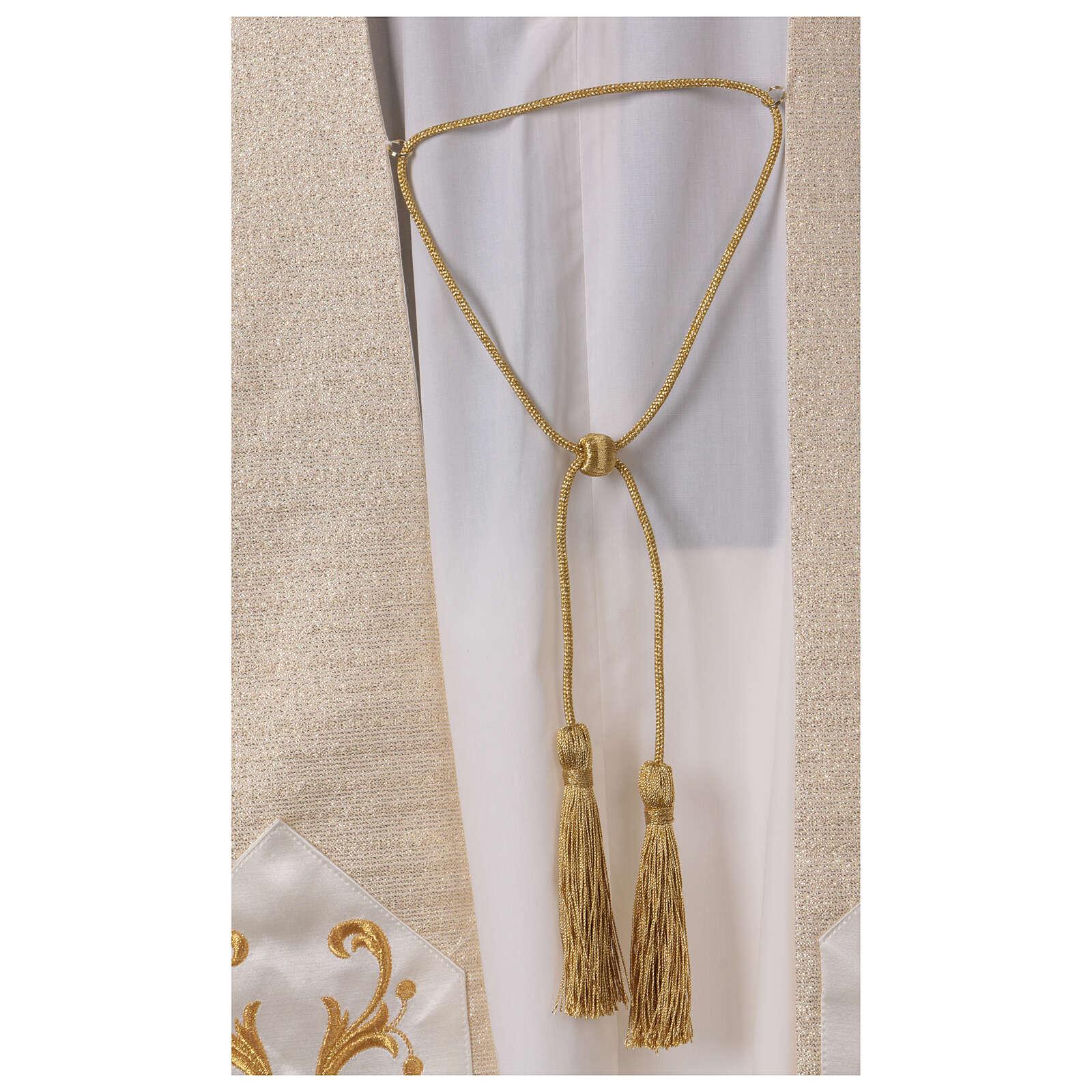 Clivio 95% pura lana naturale 5% lurex ricamo floreale fascione fronte 4