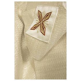Clivio 100% pura lana naturale ricamo floreale fascione fronte s4