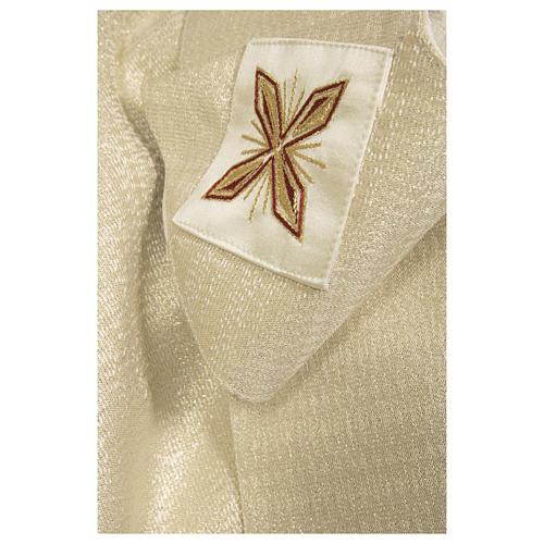 Clivio 100% pura lana naturale ricamo floreale fascione fronte 4