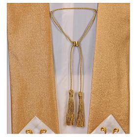 Casula colore oro IHS con croce lana e lurex s7