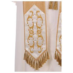 Casula colore oro IHS con croce lana e lurex s8