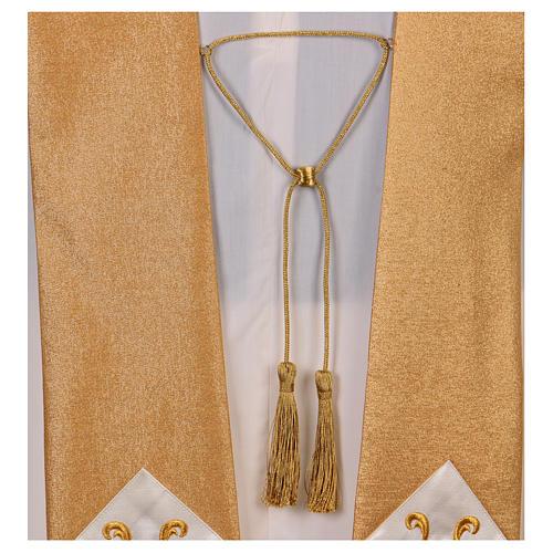 Casula colore oro IHS con croce lana e lurex 7