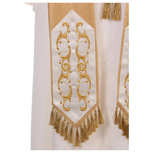 Casula colore oro IHS con croce lana e lurex 8