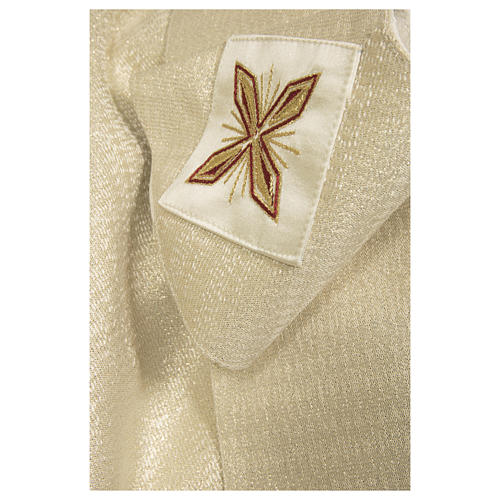 Chasuble 90% wool 10% lurex Cross and decorations 4