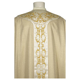 Catholic Chasuble in 90% wool 10% lurex with Cross and decorations s2
