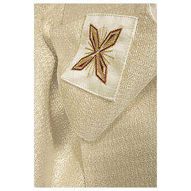 Catholic Chasuble in 90% wool 10% lurex with Cross and decorations s4